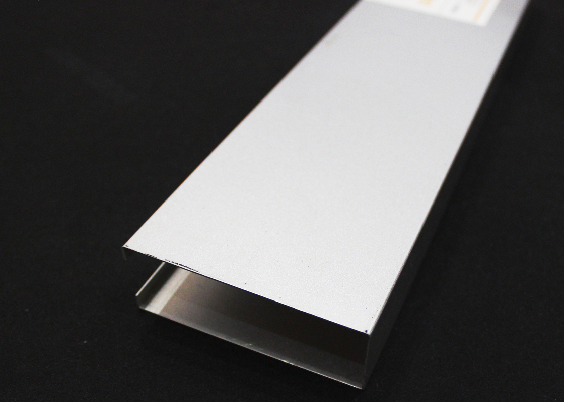custom made U-aluminum Profile Screen Ceiling / Decorative Ceiling Tiles 0.7mm