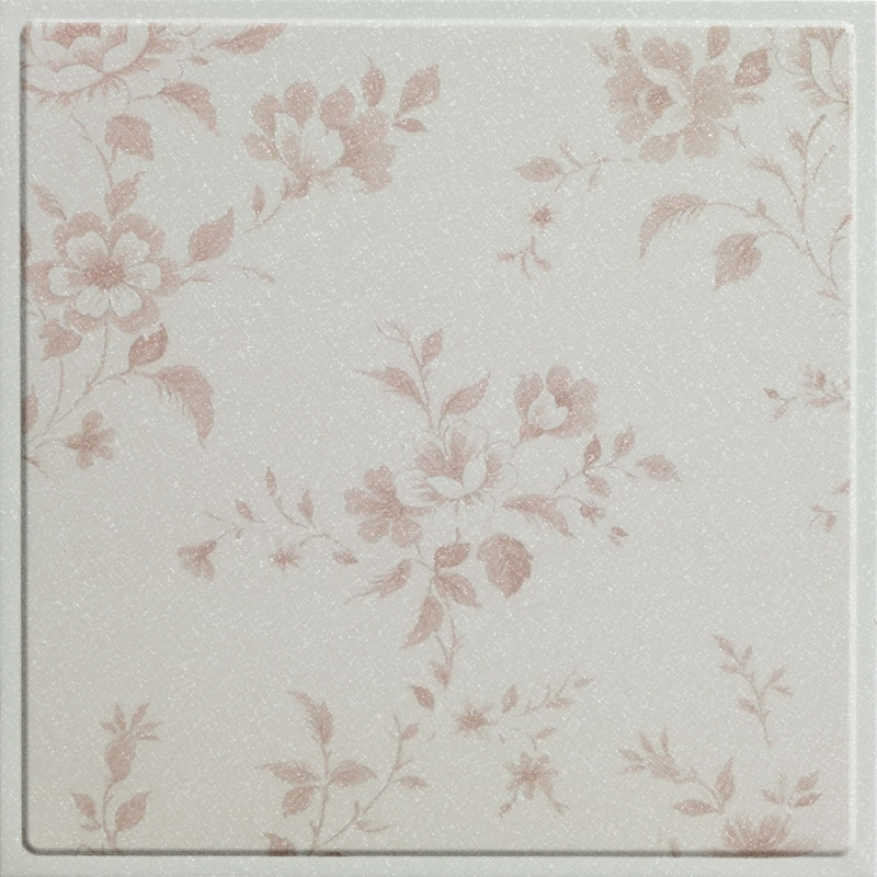 Indoor Decoration Artistic Ceiling Tiles with Beautiful Lilac Flower Pattern