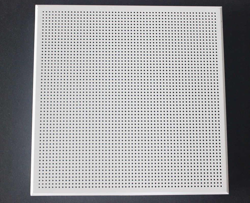Weather Resistant Acoustical Ceiling Tiles Aluminum / Galvanized Steel White Coated